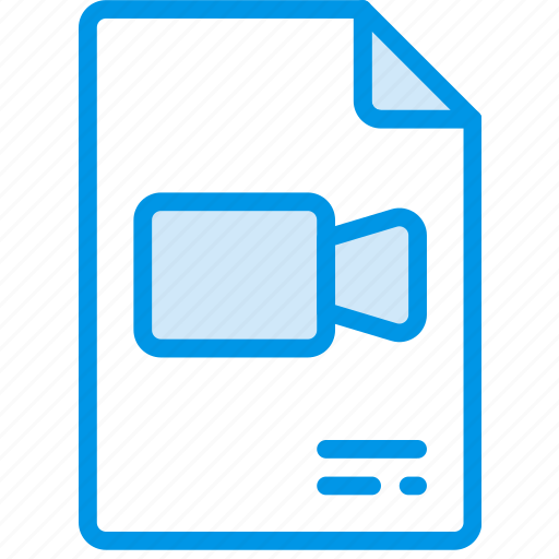 document, file, note, paper, video, write icon