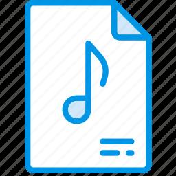 document, file, music, note, paper, write icon