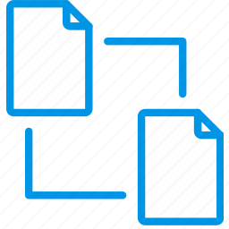 connect, document, file, note, paper, write icon