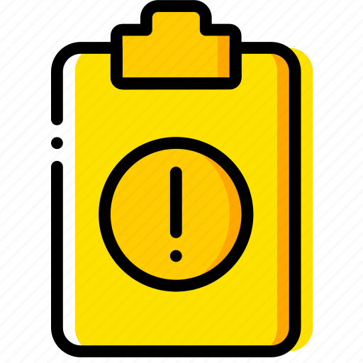 doc, document, file, paper, warning, write icon