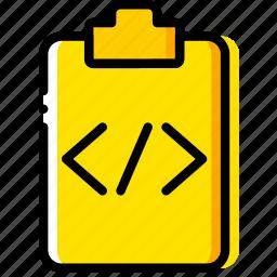 code, doc, document, file, paper, write icon