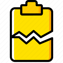 cracked, doc, document, file, paper, write icon