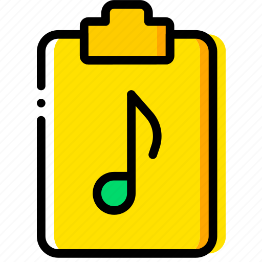 doc, document, file, music, paper, write icon