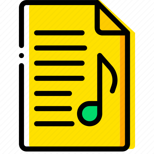 doc, document, file, music, paper, write icon