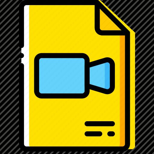 doc, document, file, paper, video, write icon