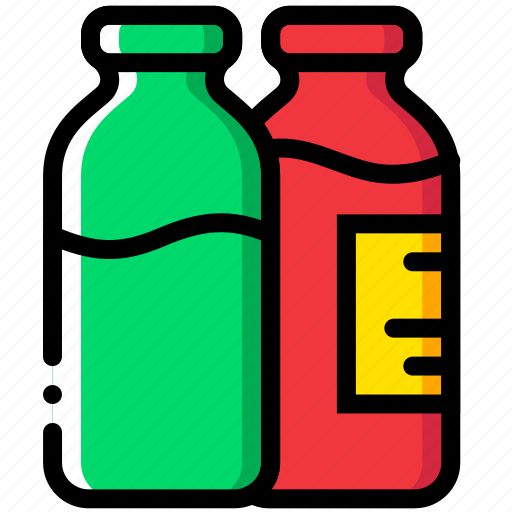 bottles, cooking, food, gastronomy, milk icon