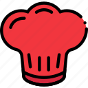 chef, cooking, food, gastronomy, hat icon