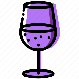 cooking, food, gastronomy, glass, wine icon