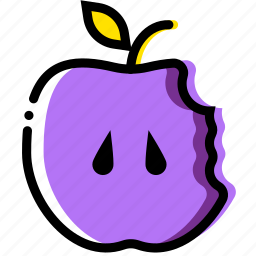 apple, bitten, cooking, food, gastronomy icon