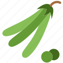 cooking, food, gastronomy, peas icon