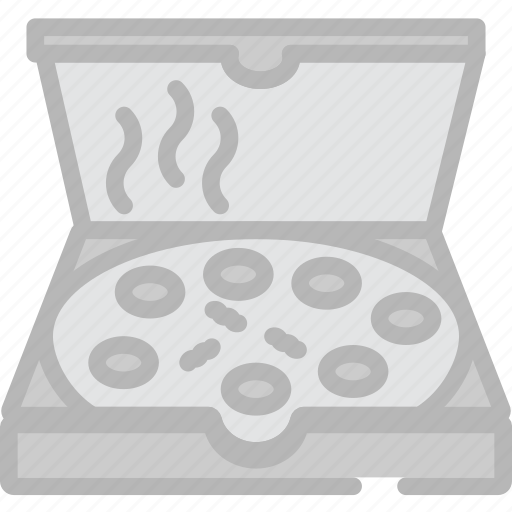 box, cooking, food, gastronomy, pizza icon