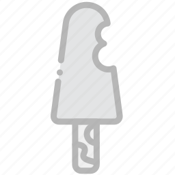 bitten, cooking, food, gastronomy, icecream icon