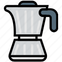 coffee, cooking, food, gastronomy, kettle icon