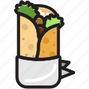 cooking, food, gastronomy, shawarma icon