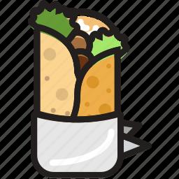 cooking, food, gastronomy, shawarma icon
