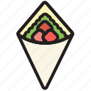 cooking, food, gastronomy, teriyaki, wrap icon