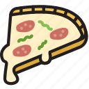 cooking, food, gastronomy, of, pizza, slice icon