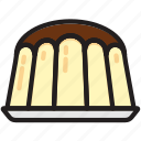 cooking, food, gastronomy, pudding icon