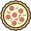 cooking, food, gastronomy, pizza, salami icon