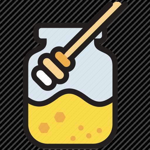 cooking, food, gastronomy, honey, jar icon