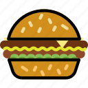 cooking, food, gastronomy, hamburger icon