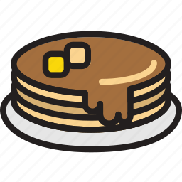 cooking, food, gastronomy, pancakes, syrup icon