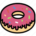 cooking, doughnut, food, frosted, gastronomy icon