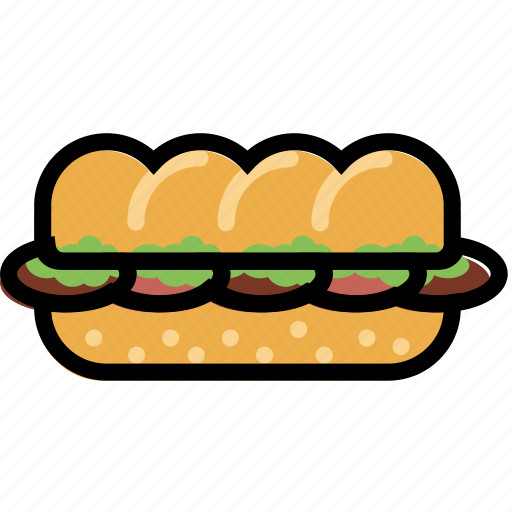 cooking, food, gastronomy, sandwhich, submarine icon