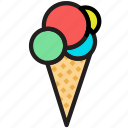 cone, cooking, food, gastronomy, sorbet icon