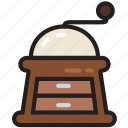 coffee, cooking, food, gastronomy, grinder icon