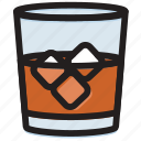 cooking, food, gastronomy, glass, whiskey icon