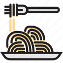 cooking, food, gastronomy, spaghetti icon