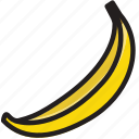 banana, cooking, food, gastronomy icon
