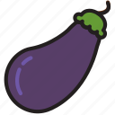 cooking, eggplant, food, gastronomy icon