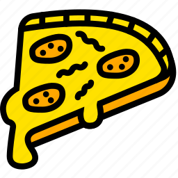 cooking, food, gastronomy, pizza, slice icon