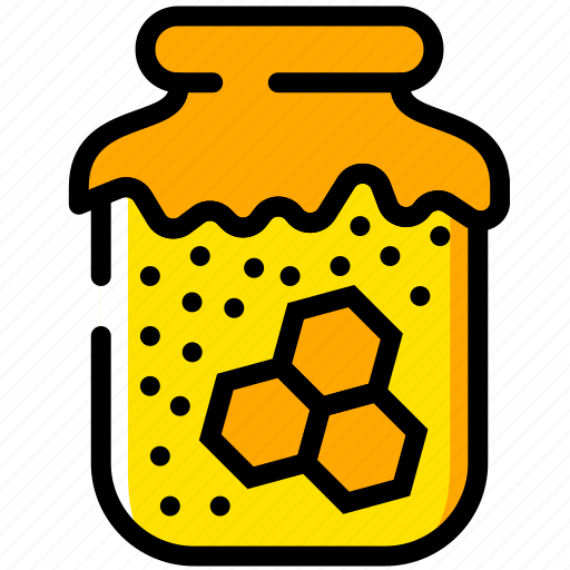 cooking, food, gastronomy, honey, jar icon