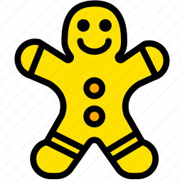 cooking, food, gastronomy, gingerbread, man icon