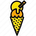 cone, cooking, food, gastronomy, gelato icon