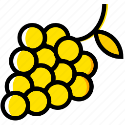 cooking, food, gastronomy, grapes icon
