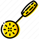 cooking, food, gastronomy, slotted, spoon icon