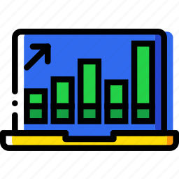business, desk, desktop, graph, office, tool icon