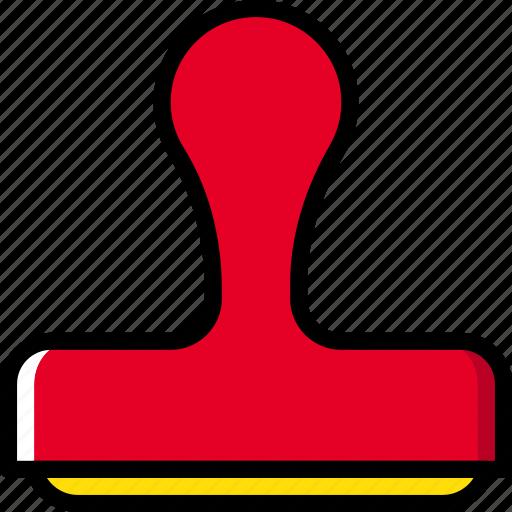 business, desk, desktop, office, stamp, tool icon
