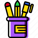 business, desk, desktop, office, pencils, tool icon