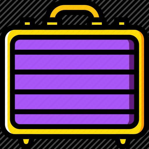 business, desk, desktop, metalic, office, suitcase, tool icon