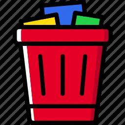 business, can, desk, desktop, office, tool, trash icon
