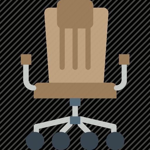 business, chair, desk, desktop, office, tool icon