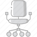 business, chair, desk, desktop, office, tool icon