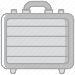 business, desk, desktop, office, suitcase, tool icon