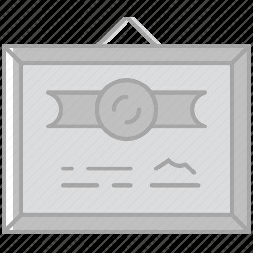business, desk, desktop, diploma, office, tool icon