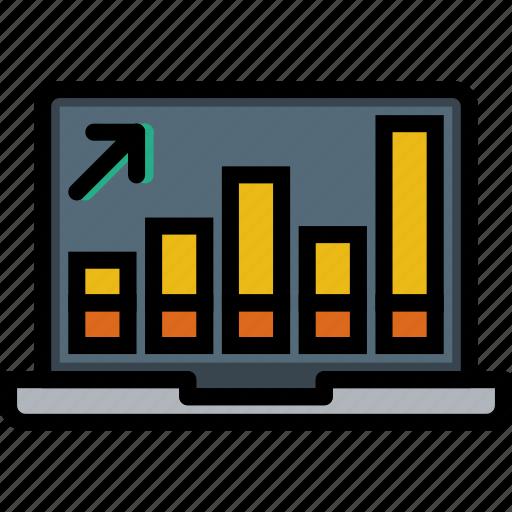 business, desk, desktop, graph, office, tool icon